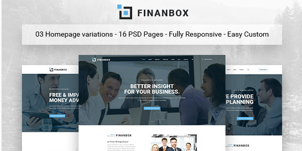 FINANBOX - Multipurpose Business & Corporate Business PSD Template