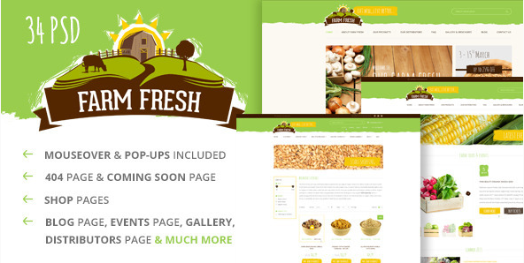 Farm Fresh - Organic Products PSD Template