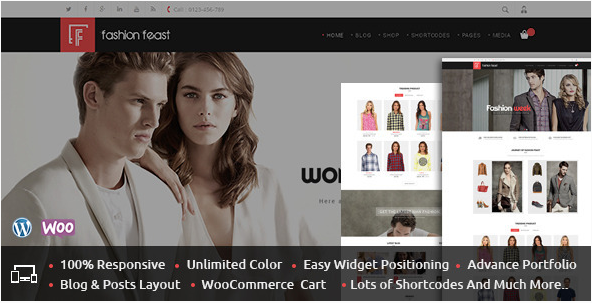 Fashion Feast - WooCommerce Responsive Theme