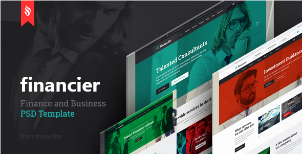 Financier - Finance & Business PSD Template