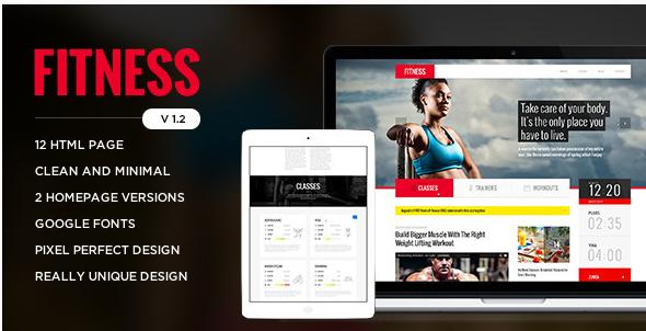 Fitness - Retina Responsive HTML Template