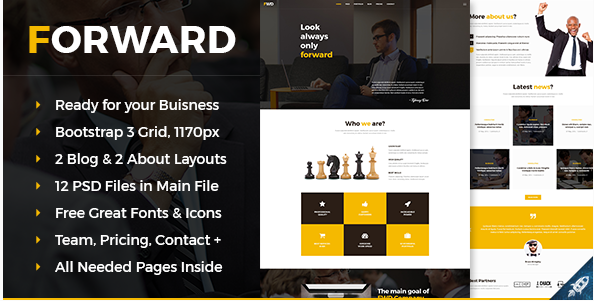 Forward - Business & Corporate PSD Template