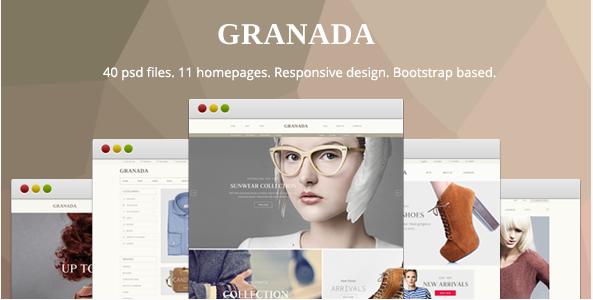 Granada - Responsive eCommerce PSD Template