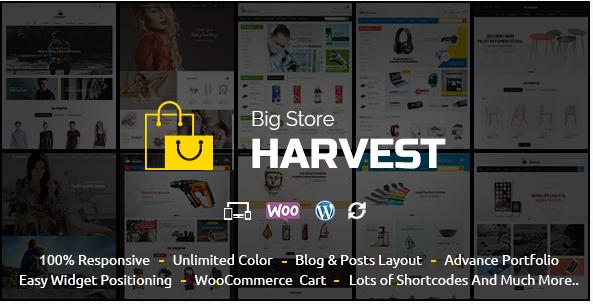 Harvest - Multipurpose WooCommerce Theme