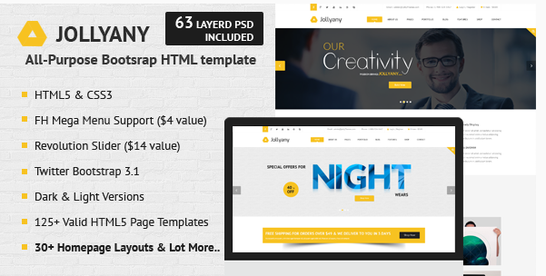 Jollyany - Corporate Multi Purpose HTML5 Template