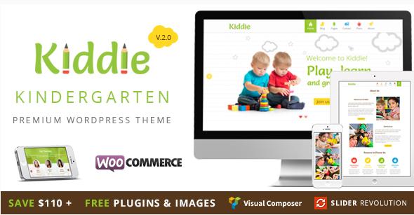 Kiddie - Kindergarten  Nursery WordPress Theme