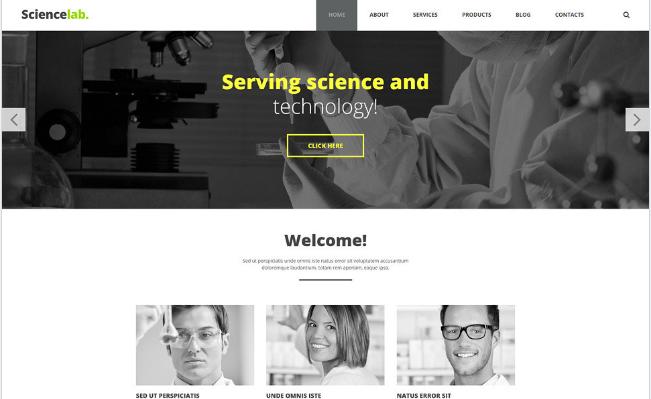 Laboratory Facilities Joomla Template