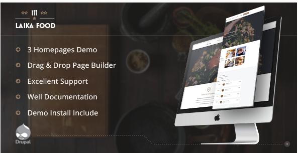 Laikafood - Restaurant, Cafe & Food Drupal Theme