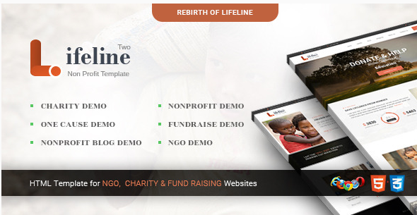 Lifeline 2 - Multipurpose Non-profit HTML Template