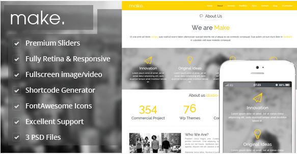 Make - Responsive Parallax Onepage WordPress Theme