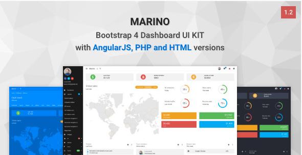 Marino - Bootstrap 4 Dashboard UI Kit