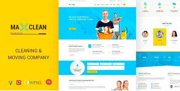 Max Cleaners & Movers - WP theme