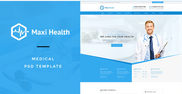 Maxi Health  Medical & Health PSD Template