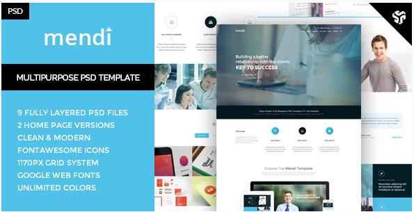 Mendy - MultiPurpose Corporate Template