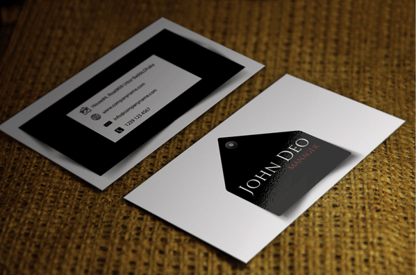 Modern Black & White Business Card