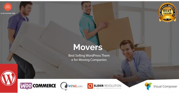 Movers - Moving Company WordPress Theme