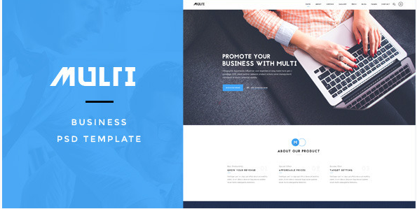 Multi - Business PSD Template