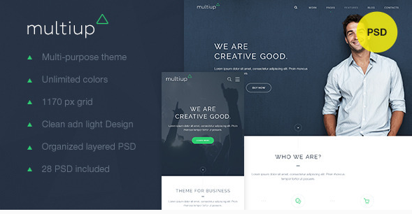 MultiUp — Multi-Purpose Business PSD