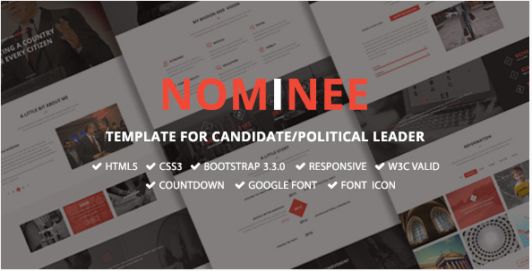 Nominee - Template for Candidate Political Leader