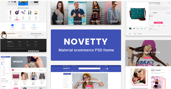 Novetty - Material UX Ecommerce Template