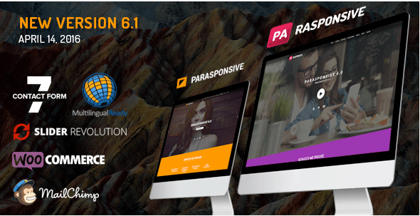 Parasponsive One-page WooCommerce WordPress Parallax
