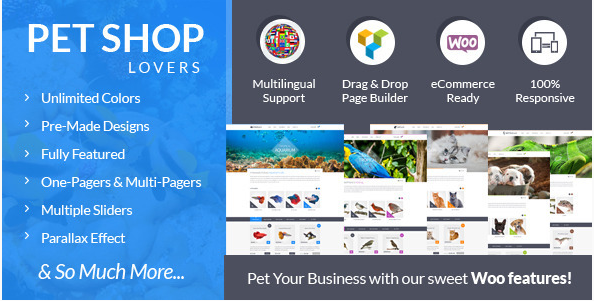 Pet Shop Lovers - Woo eCommerce WP Theme