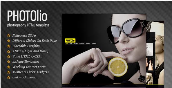 Photolio - Photography  Portfolio HTML Template