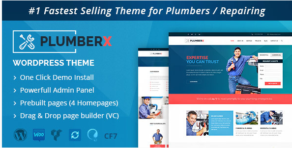 Plumber - Construction and Repairing WordPress Theme