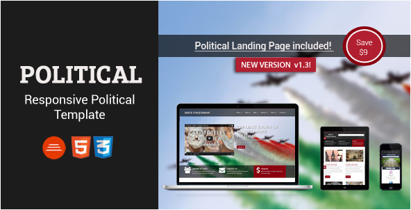 Political - Bootstrap Html5 Css3 Political Page