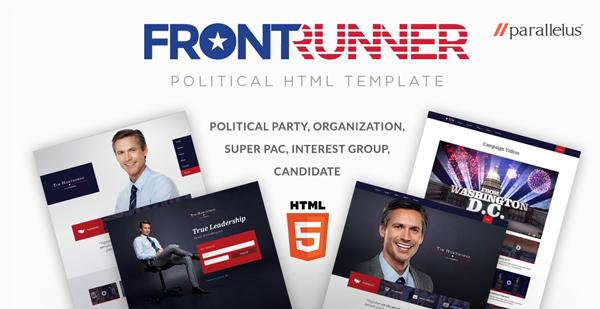Political HTML Template - FrontRunner