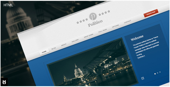 Politico HTML Campaign & Business Template