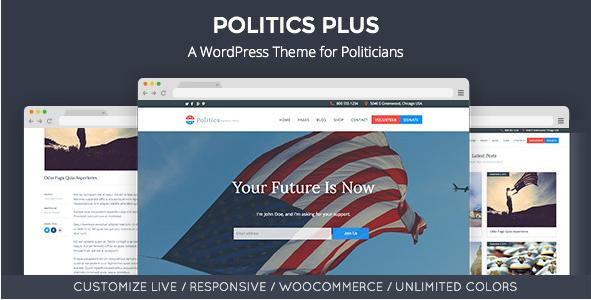 Politics Plus Government Campaign WordPress Theme