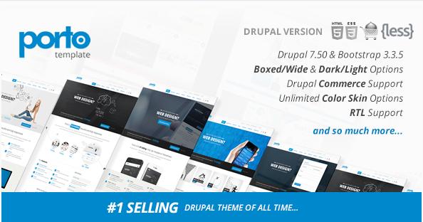 Porto - Responsive Drupal 7 Theme 25+ Best  eCommerce Drupal Themes 2016 wpshopmart