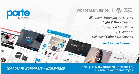 Porto  Responsive WordPress + eCommerce Theme