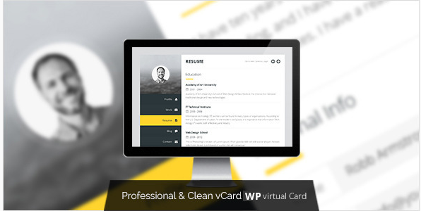 Premium Layers WordPress vCard & Resume Theme