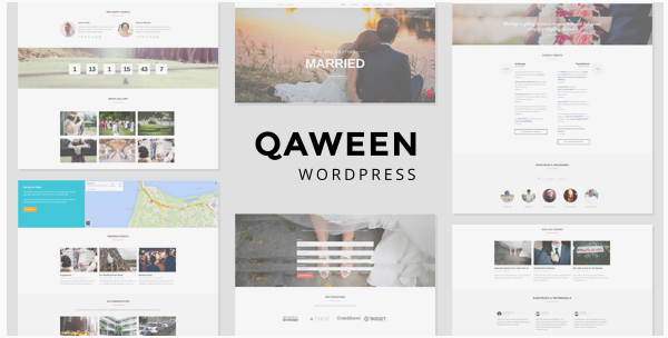 Qaween - Wedding WordPress Theme