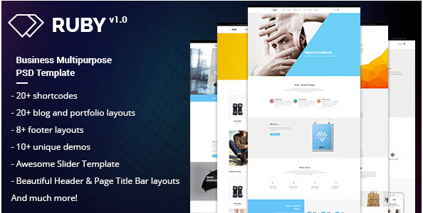 RUBY – Business Multipurpose PSD Template