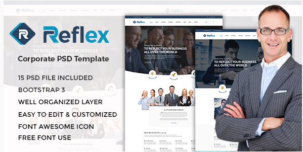 Reflex - Corporate PSD Template