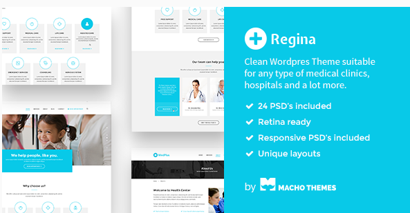 Regina - Medical PSD Template