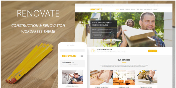 Renovate - Construction Renovation WordPress Theme