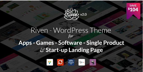 Riven - WordPress Theme for App, Game, Single Product Landing Page
