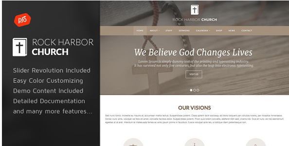 Rock Harbor - Church WordPress Theme