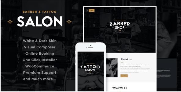 Salon  Barbershop & Tatoo WordPress Theme