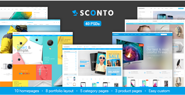 Sconto - Responsive eCommerce PSD Template