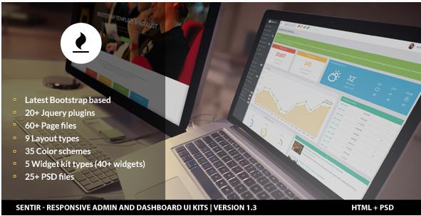 Sentir - Responsive Admin and Dashboard UI Kits