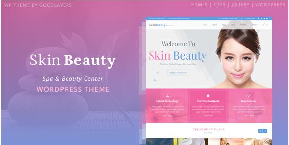Skin Beauty - Beauty - Spa - Salon WordPress Theme