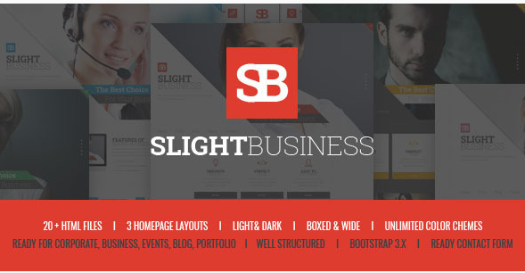 Slight Business - Responsive Corporate Template