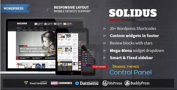 Solidus - Clean Magazine Theme