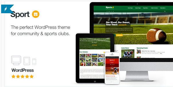 Sport - WordPress Club Theme