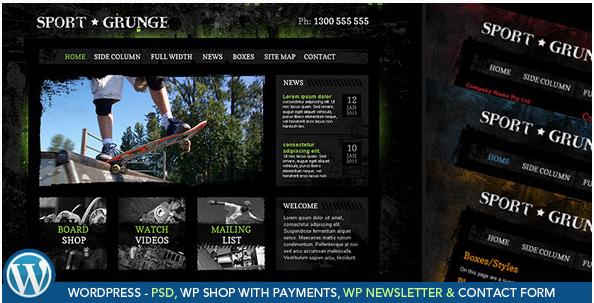 Sport and Grunge - WordPress WooCommerce Shop